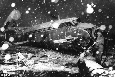 1958 Manchester United เครื่องบินตก ณ กรุงมิวนิก